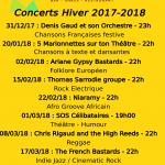 Concerts Sainbioz Hiver 2017-2018