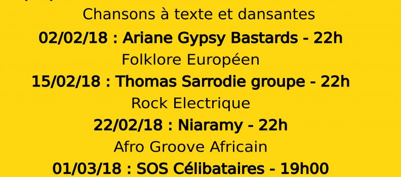 Concerts Le Sainbioz – Hiver 2017-2018