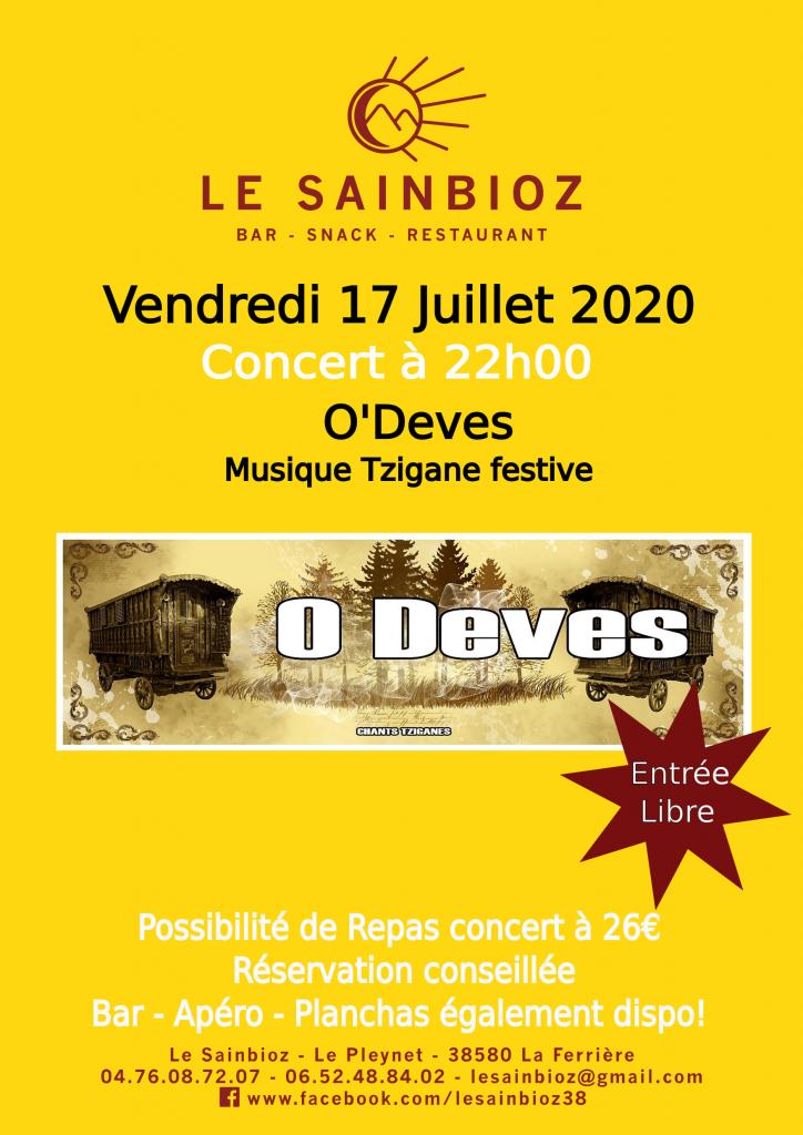 Concert 170720 O'Deves - 260620