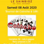 Tournoi de Coinche 080820 - 260620