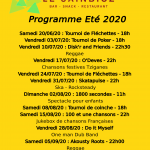 Programme Sainbioz Eté 2020