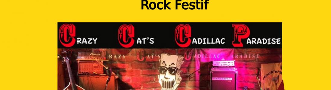 Crazy Cat's Cadillac Paradise – Concert Rock – le 13/08/21
