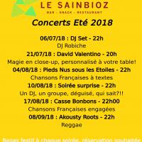 Concerts Le Sainbioz – Eté 2018
