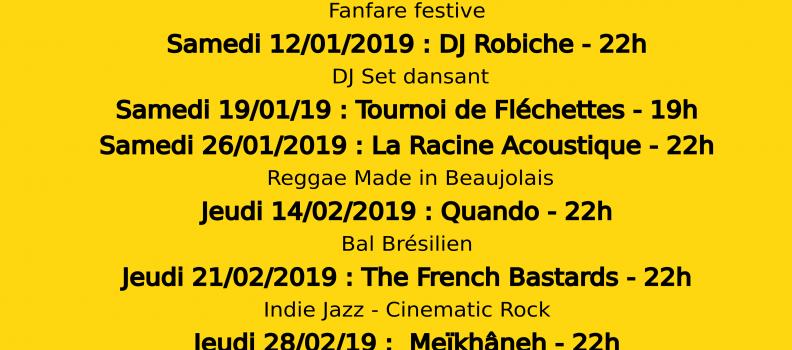 Concerts Le Sainbioz – Hiver 2018-2019