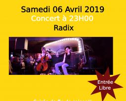 Radix Soirée de fin de saison – Bal frappé des Balkans concert le 06/04/19