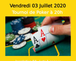 Tournoi de Poker le 03/07/20